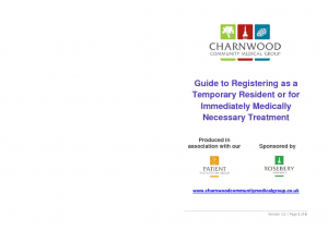 A Guide to Registering as a Temporary Resident or for Immediately Medically Necessary Treatment v1.0