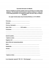 Midwife Booking form 2 of 2